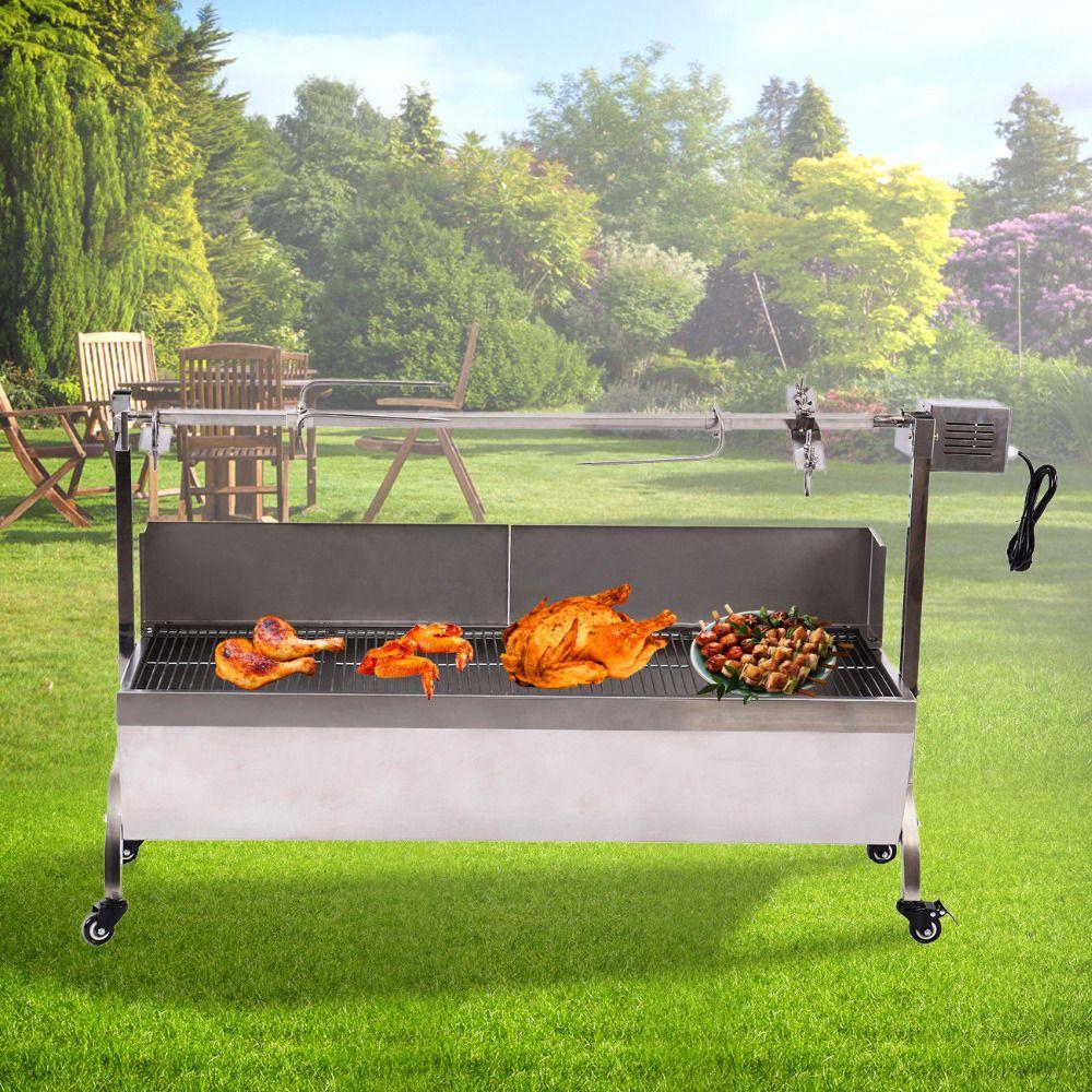 Elektrische grill Herd grill lamm BBQ edelstahl holzkohle grill spieß rotisserie