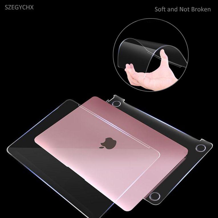 Cristal Dur Étui D'ordinateur Portable Pour Macbook Air Pro Retina 11 12 13 15 13.3 pouce Tactile Bar Pour MacBook nouveau Air 13 A1932 2018 cas
