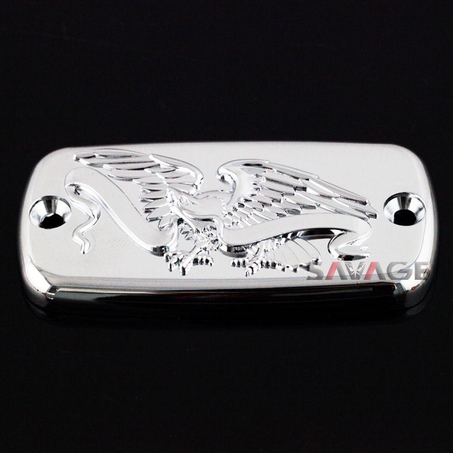 For HONDA VTX 1300C/1300R/1300S/1300T STEED 400 VF 750 Magna Motorcyle Front Brake Cylinder Reservoir Cover Cap Eagle