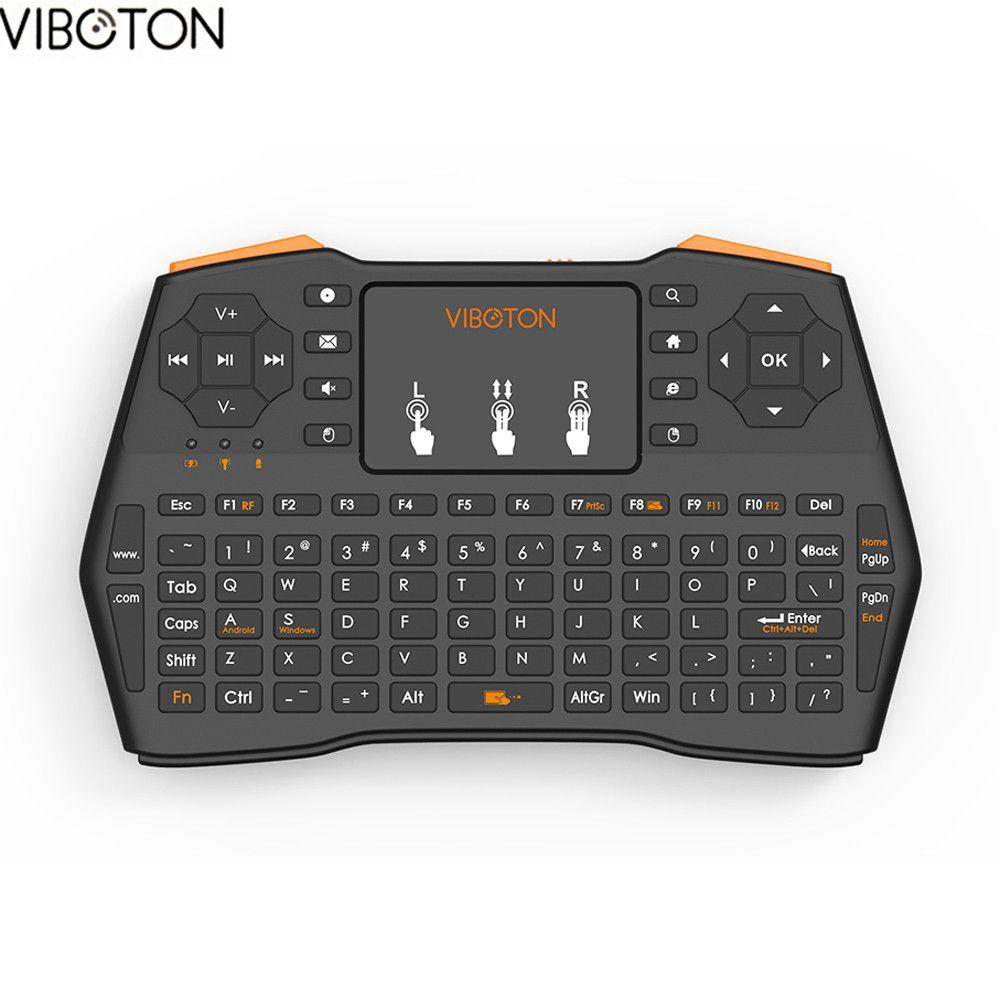 VIBOTON I8 puls Wireless 2.4G Mini Keyboard Multimedia Keys Air Mouse Touchpad Keyboard for Smart TV box PC Desktop LaptopTablet