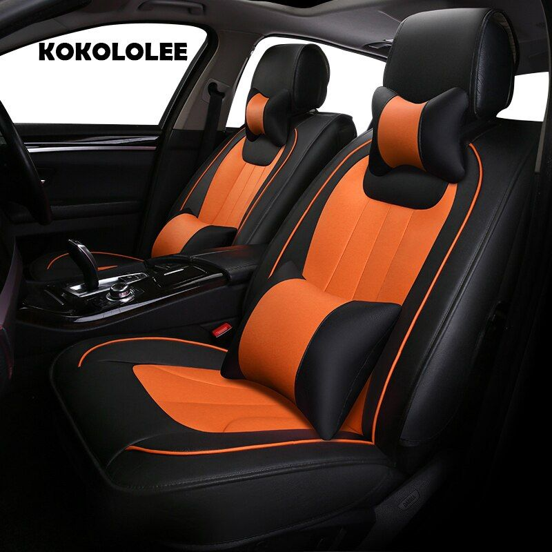 KOKOLOLEE Special leather car seat cover for Audi A6L R8 Q3 Q5 Q7 S4 S5 S8 RS TT Quattro A1 A2 A3 A4 A5 A6 A7 A8 car accessories