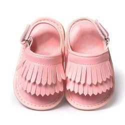 Bebé recién nacido del bebé sandalias de verano bebé sandalias de moda Casual para las niñas PU sandalias del bebé