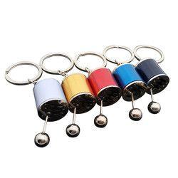 2018 Car Key Rings Car-styling Gear Knob Gear Shift Gear Stick Gear Box Metal Key Chain Keyfob Car Keyring Gift drop shipping