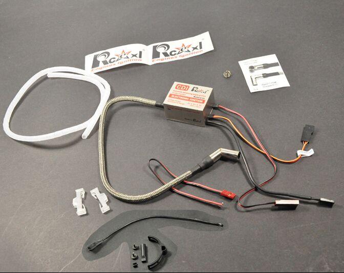 Rcexl Single Cylinder CDI Ignition For ME8 1/4-32 Spark Plug 120 Degree With Universal Sensor Bracket 6V/12V