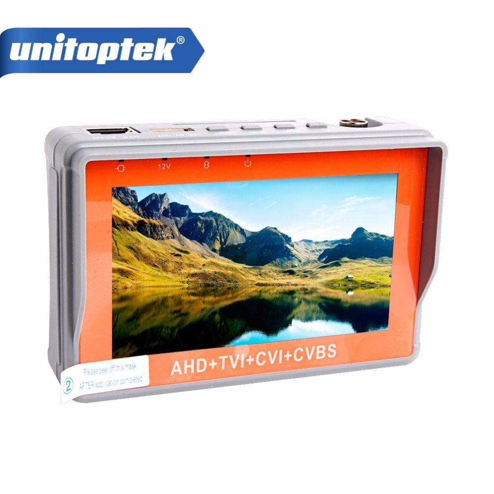 1080 P/5MP AHD CCTV Testeur 4 En 1 Pour AHD TVI CVI CVBS Analogique Caméra De Sécurité Moniteur Avec 4.3 Pouces LCD Écran 5 V 2A, 12 V 1A