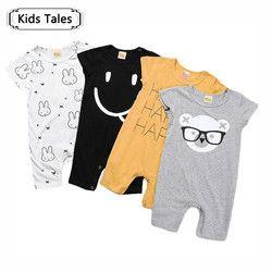 Children's wear Children's overalls gray short-sleeved Clothing one Multi-piece suit jumpsuit Newborn boy clothes for girlsSR263