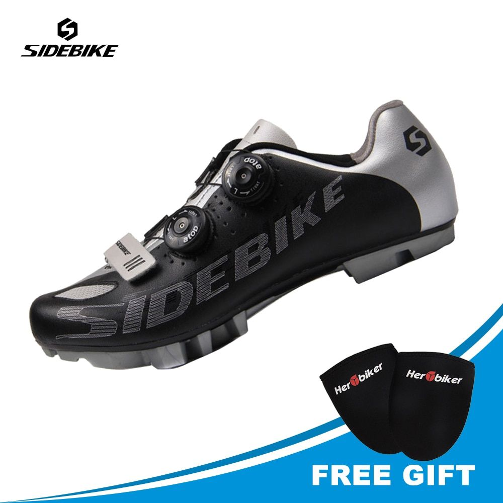 SIDEBIKE Professional Cycling Bike Shoes rey SPD System Self-locking MTB Cycle Shoes Cycling Racing Shoes For Men