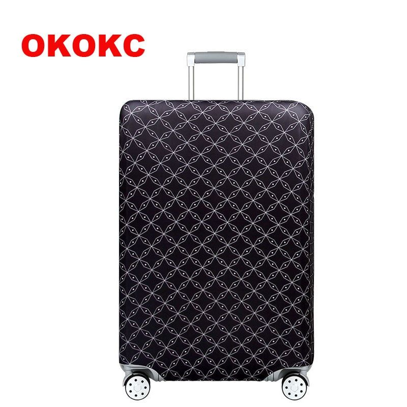 OKOKC World Map housse de bagage épaisse élastique pour étui de coffre appliquer à 18 ''-32'' valise, valise housse de protection accessoire de voyage
