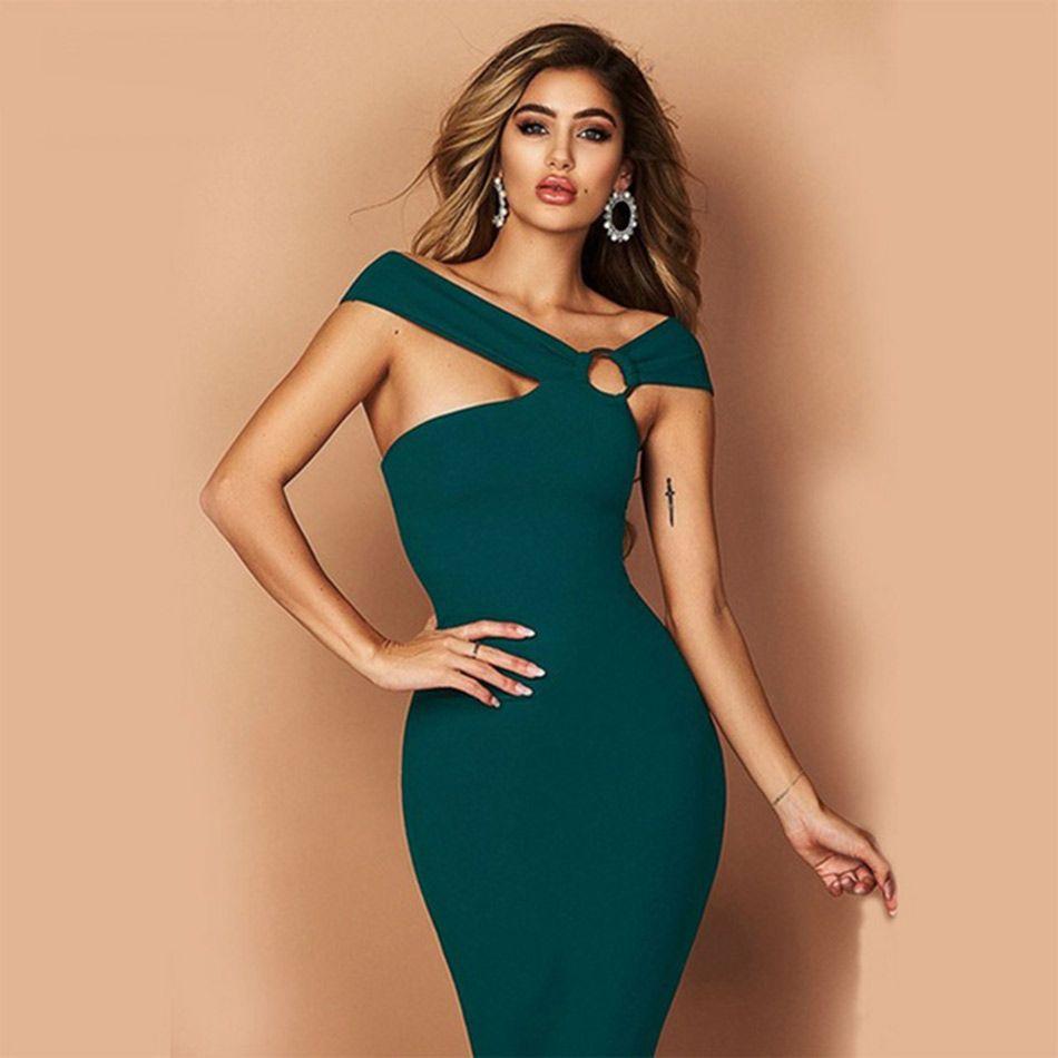Seamyla nouvelles robes de pansement femmes été 2019 moulante célébrité robe de soirée Sexy genou longueur Vestidos Clubwear robe de piste