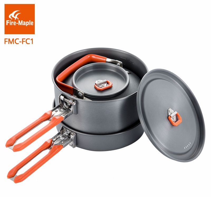 Fire Maple Outdoor Camping Hiking Feast Cuisiner 1 Cookware Backpacking Cooking Picnic Frypan Set Foldable FMC-FC1