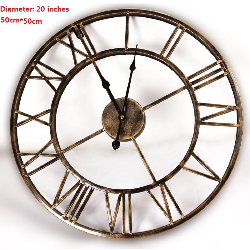 20 pouces 3D Grand Mur Horloge Saat Fer Horloge Murale Reloj montre Numérique Horloges Duvar Saati Horloge Murale Relogio de Parede Klok