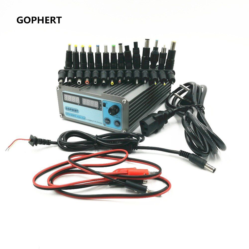 CPS-3205 II Compact Digital Adjustable DC Power Supply OVP/OCP/OTP+28 PCS connector Notebook power adapter 32V5A 0.01V/0.01A