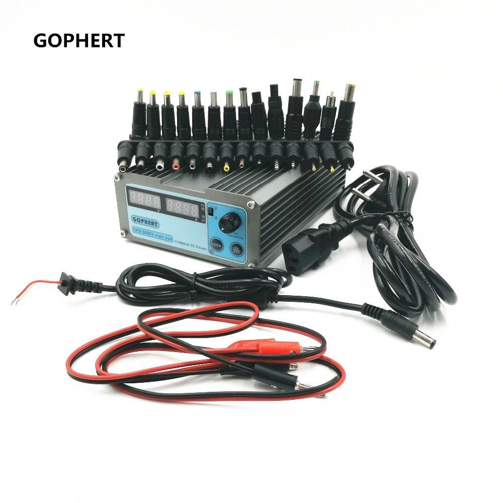 CPS-3205 II Compact Numérique Réglable Alimentation En COURANT CONTINU OVP/OCP/OTP + 28 pièces connecteur adaptateur secteur Pour Ordinateur Portable 32V5A 0.01 V/0.01A