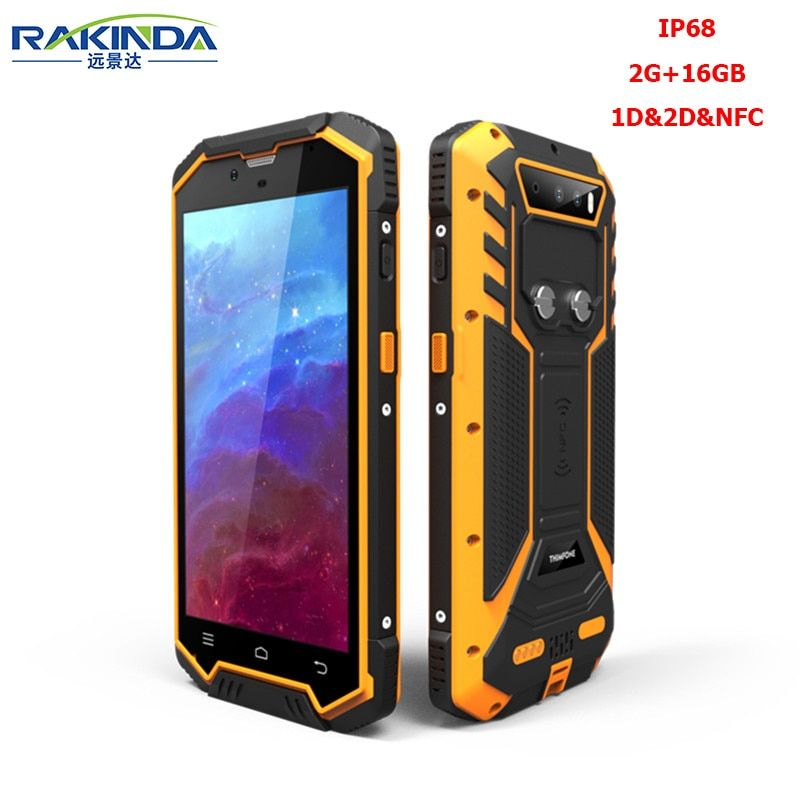 Rakinda S2 Plus-2G/16GB IP68 Android 5.1 PDA 2D Barcode Scanner with NFC for Inventory Management and Logistics