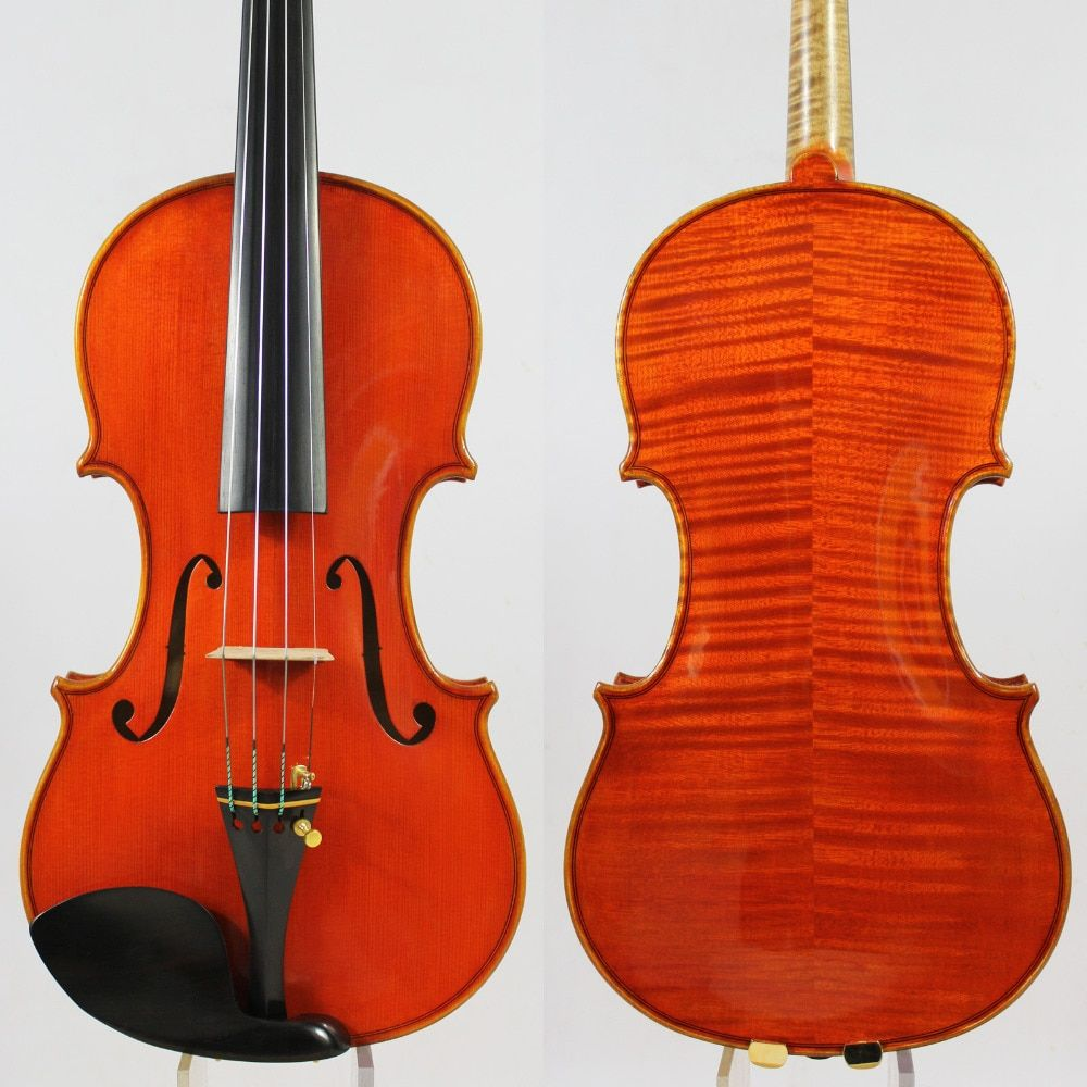 Master Violin violino ! Identity Copy!Guarneri del GesuThe Cannon1743! Strong and Deep tone!Free Shipping!Aubert Bridge! NO:3