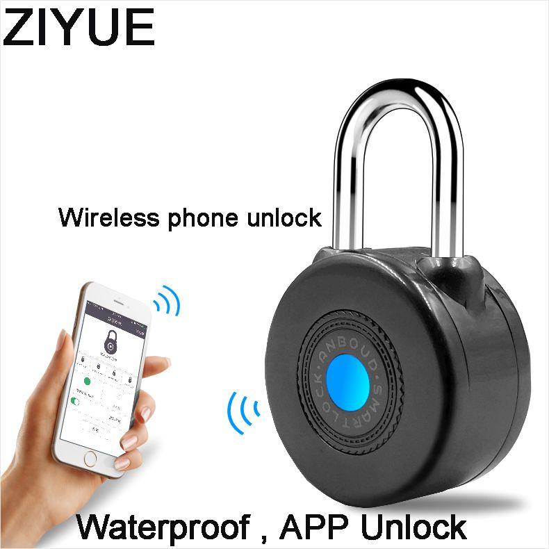 Freies Verschiffen Wasserdichte Keyless Intelligente Elektronische Blue tooth Türschloss für Bike Motorycle Tür APP Phone Control