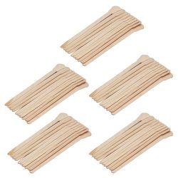50 Pcs En Bois Épilation Cire Spatule Langue Jetable Bambou Bâtons Cheveux Enlèvement Crème Bâton Pour Epilation Corps Soins Des Cheveux