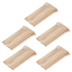 50Pcs Wooden Waxing Wax Spatula Tongue Disposable Bamboo Sticks Hair Removal Cream Stick For Waxing Body Hair Care