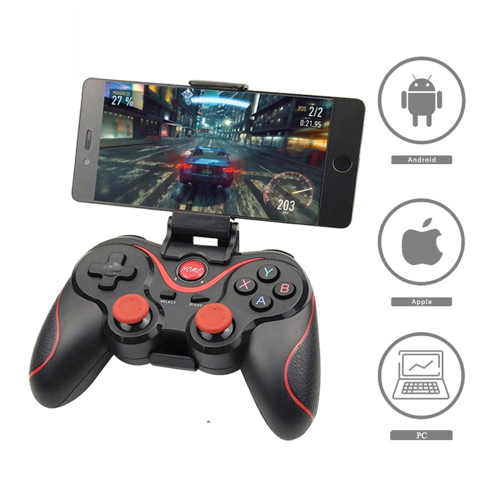 Gros Terios T3 X3 manette de jeu sans fil Gamepad manette de jeu bluetooth BT3.0 Joystick Pour téléphone portable Tablet TV support de la boîte