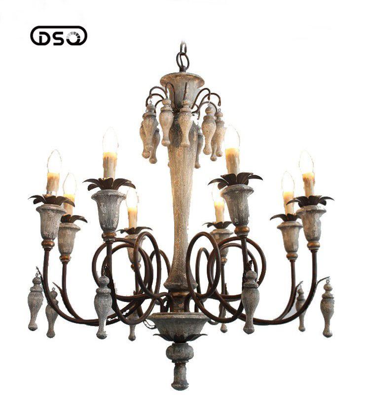 Vintage Amercian Rustikalen Holz Kronleuchter Lampe Wohnzimmer Hotel und Leseraum Leuchte Kronleuchter
