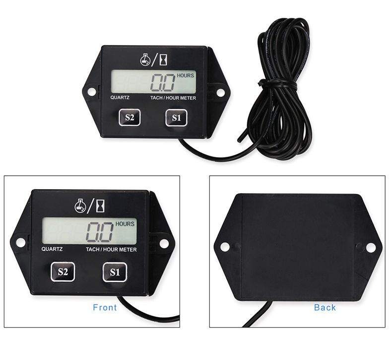 Waterproof Motorcycle Speed Timer Digital Engine Tach Tachometer toerenteller Hour Meter Inductive For Motorcycle Bike