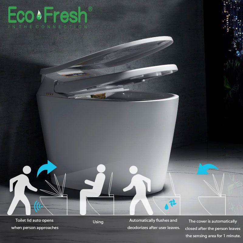 Ecofresh Smart wc Auto wc deckel und sitz flip integrierte automatische intelligente toilette abdeckung waschen trockenen massage