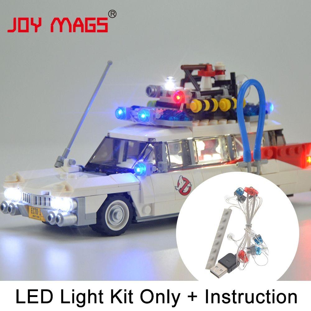 JOY MAGS Kit de lumière LED pour Ghostbusters ensemble de lumière de Ecto-1 Compatible avec 21108 (modèle non inclus)