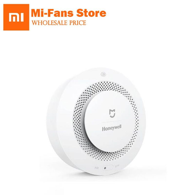 In Shock Original Xiaomi Mijia Honeywell Smart Fire Alarm Progressive Sound Photoelectric Smoke Sensor Remote Linkage Mihome APP