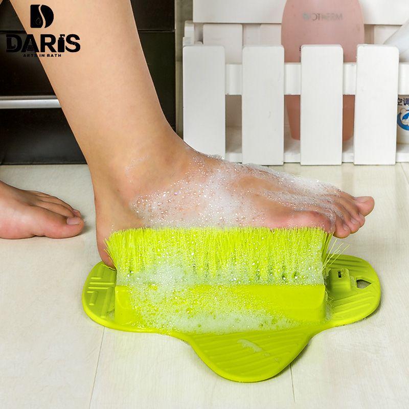 Sdarisb Пластик Средства ухода за кожей стоп Товары для уборки Щётка сильнее легко Средства ухода за кожей стоп массажер для ног Щётка очистите...