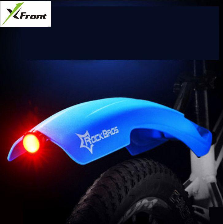 X-front marque vtt garde-boue vélo avant arrière dégagement rapide vélo garde-boue vélo garde-boue aile support garde-boue avec feu arrière d'avertissement