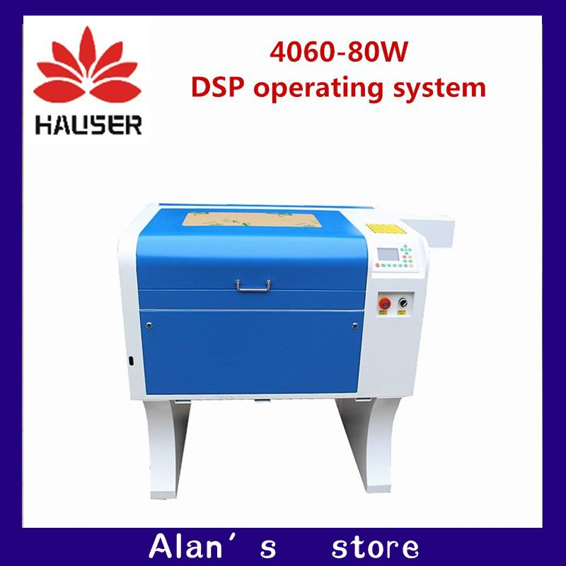 HCZ co2 laser CNC 80W 4060 laser engraving cutter  marking machine  mini laser engraver cnc router laser head diy
