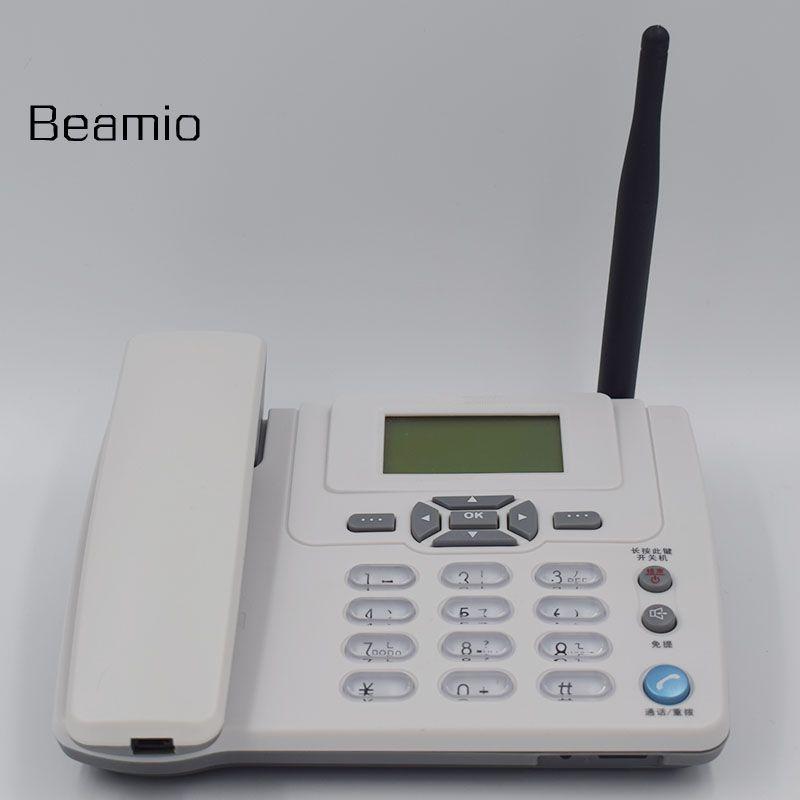900/1800 MHz ETS3125i GSM Filaire Fixe Téléphone Fixe Sans Fil Téléphone Avec FM Radio Téléphone De Bureau Pour La Maison Bureau blanc