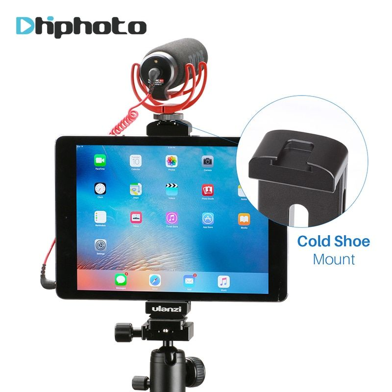 Ulanzi цельнометаллический Алюминий крепление штатива для iPad/iPad Pro/iPad мини воздуха, планшеты штатив Hoder стенд ж Горячий башмак/Quick Release Plate