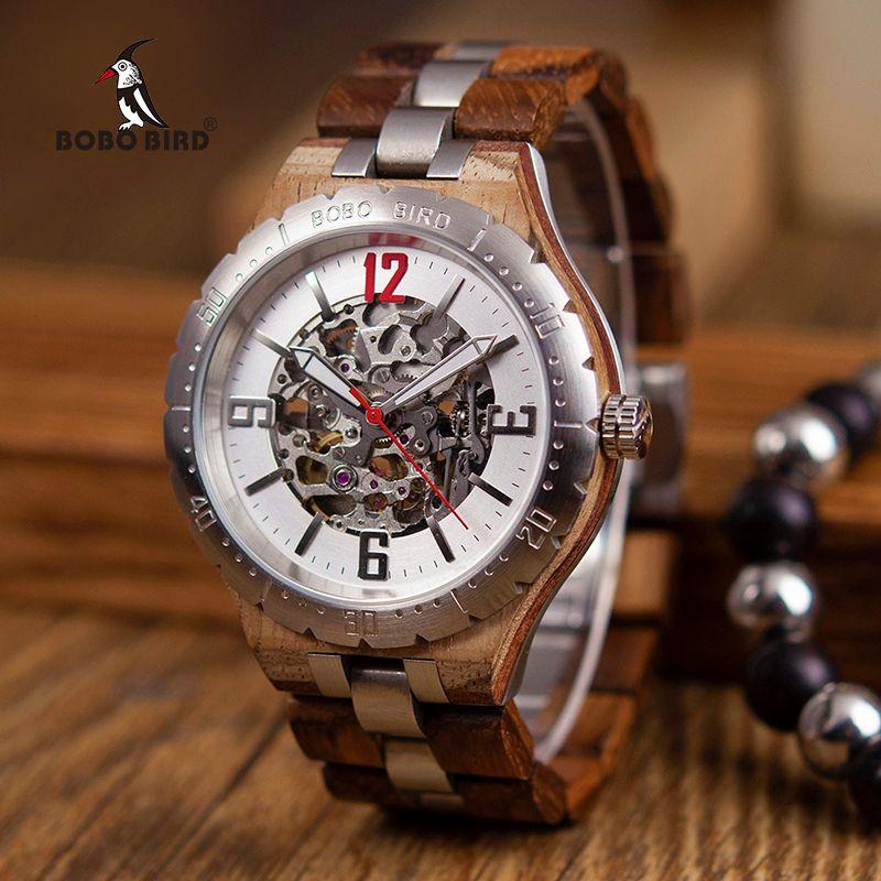 BOBO VOGEL Mechanische Uhren Männer Wasserdichte Automatische Uhren Top-marke Luxus Armbanduhren orologi uomo automatico