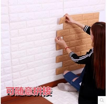 Stereoscopic 3 d grain brick wall waterproof wall paper sticky bedroom from the sitting room dining-room decorate-7z