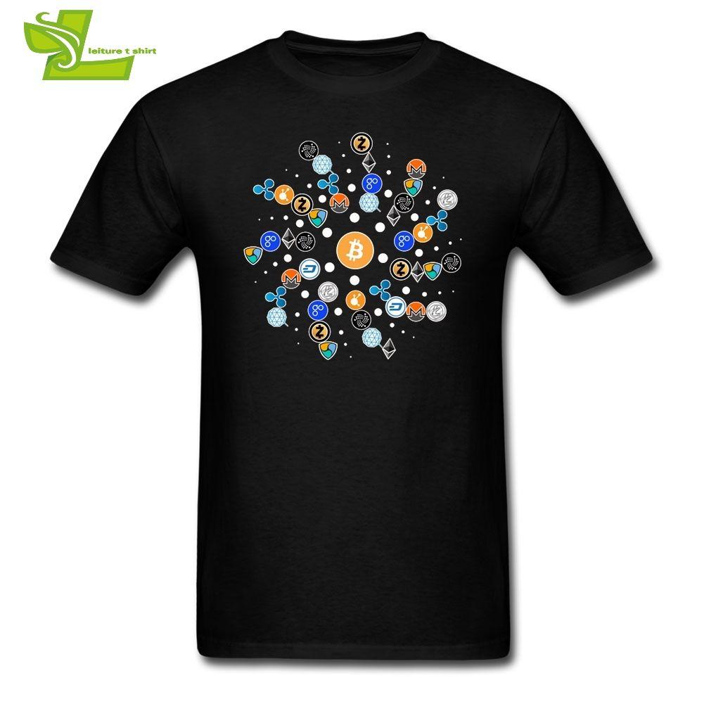 T Shirts Cryptocurrency T-Shirt Ethereum Bitcoin Litecoin Blockchain BTC ETH LTC XMR QTUM Tees Short Sleeve Pop Men Short Sleeve