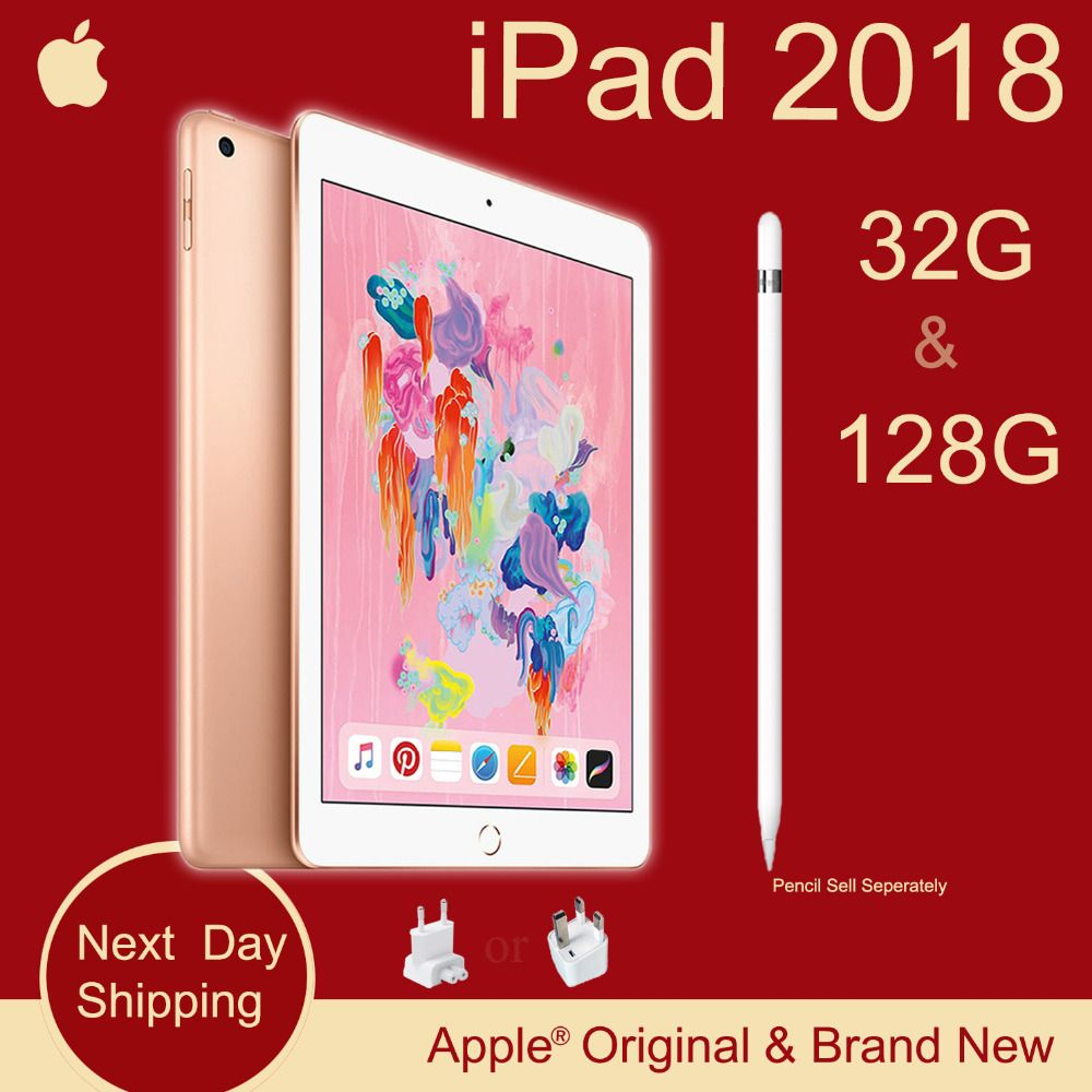 Neue Apple iPad 2018 (6th Generation) 32G 9,7 Retina Display A10 Fusion Chip Facetime 8MP Hinten Kamera 0,46 kg Super Tragbare