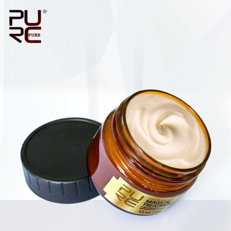 PURC Vente Chaude 60 ml Magique traitement masque 5 secondes Réparations dommages restaurer cheveux doux pour tous les types de cheveux pour le traitement des cheveux