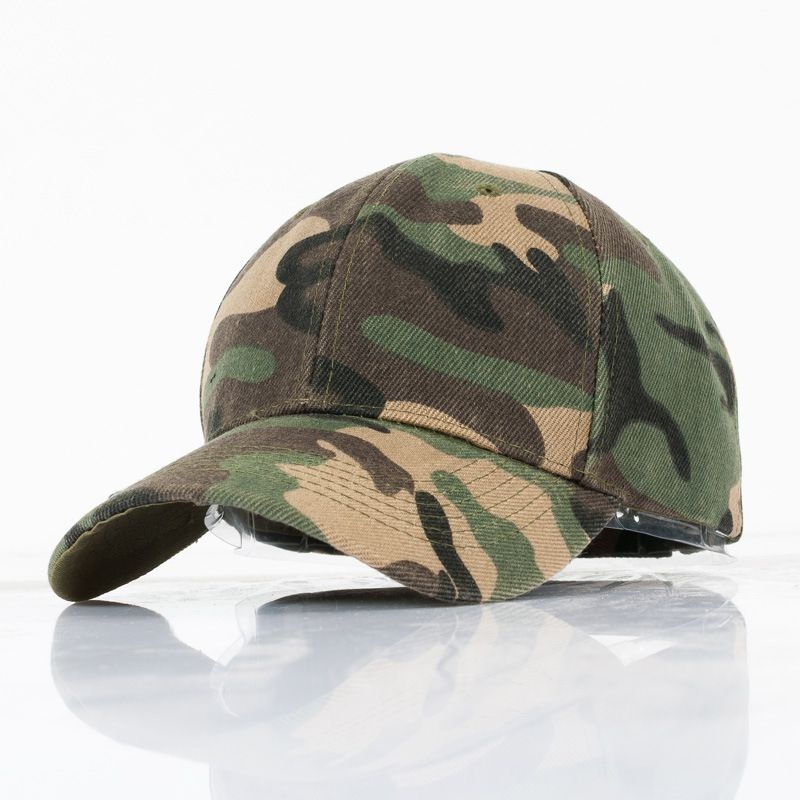 Fashion Camouflage casual outdoor fishing hat couple men and women geometric Army Green  baseball cap