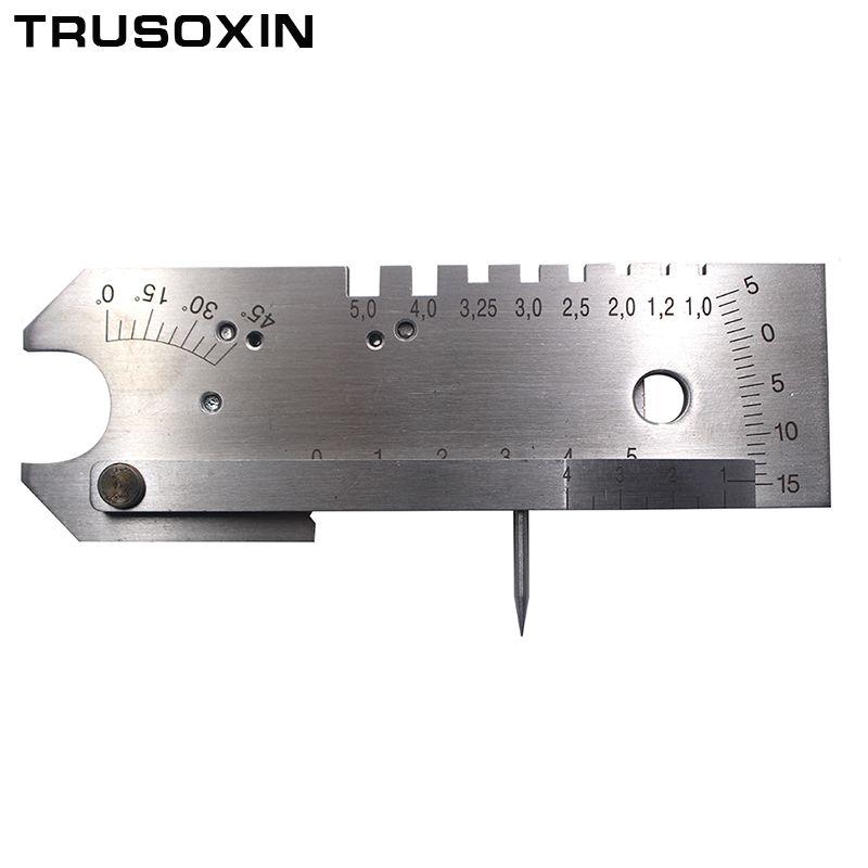 Welder Tools Welding Gauge Stainless Steel Internal HI-LO Gauge Inspection with Small Level of Regulation Root gap Standard Inch