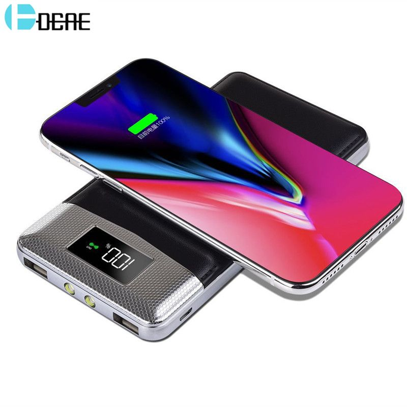 Qi Wireless Chager Power Bank Dual USB 5V2A Output External Battery for iphone X 8 Plus Samsung Note 8 S9 S8 Xiaomi Fast Charge