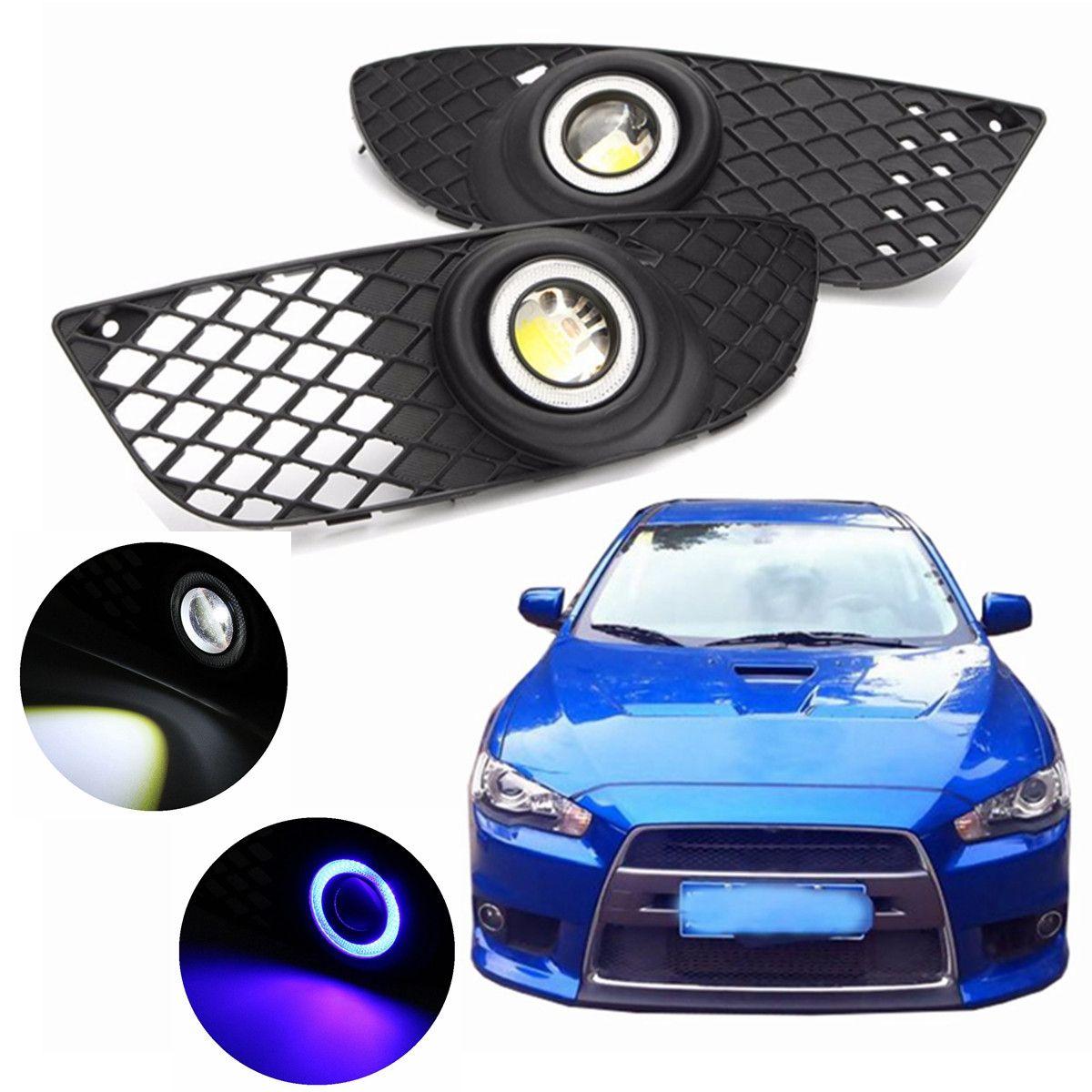 3 color 2Pcs Car Styling H3 Fog Lamp Fog Light Angel Eyes DRL Daytime Running Light For Mitsubishi Lancer 2008-2014