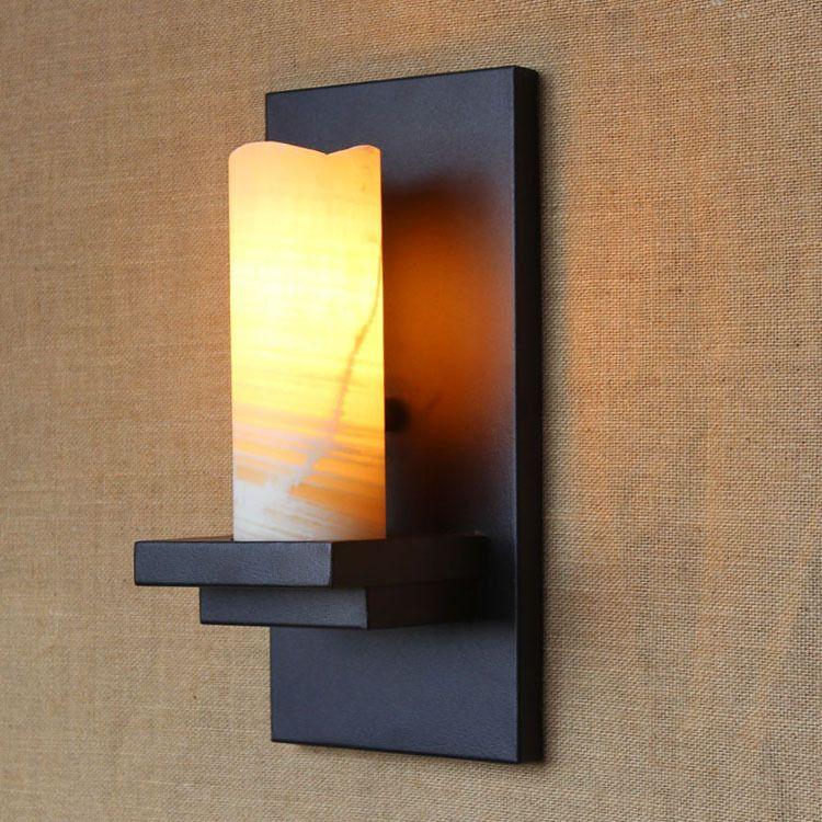 Marmor Retro Vintage Edison Wandleuchte Loft Wandleuchter Kerzenhalter Stil Nachttischlampe Wandleuchte Antike Lampe E27 ZBD0087