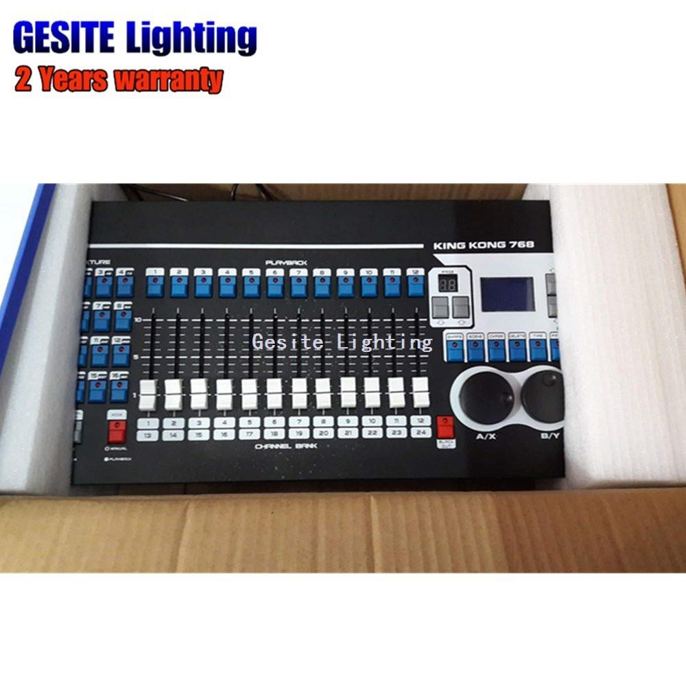 Kingkong KK768 Professional DMX controller 768 DMX channels Built-in 135 Graphics Stage Lighting 512 Dmx Console Equipment