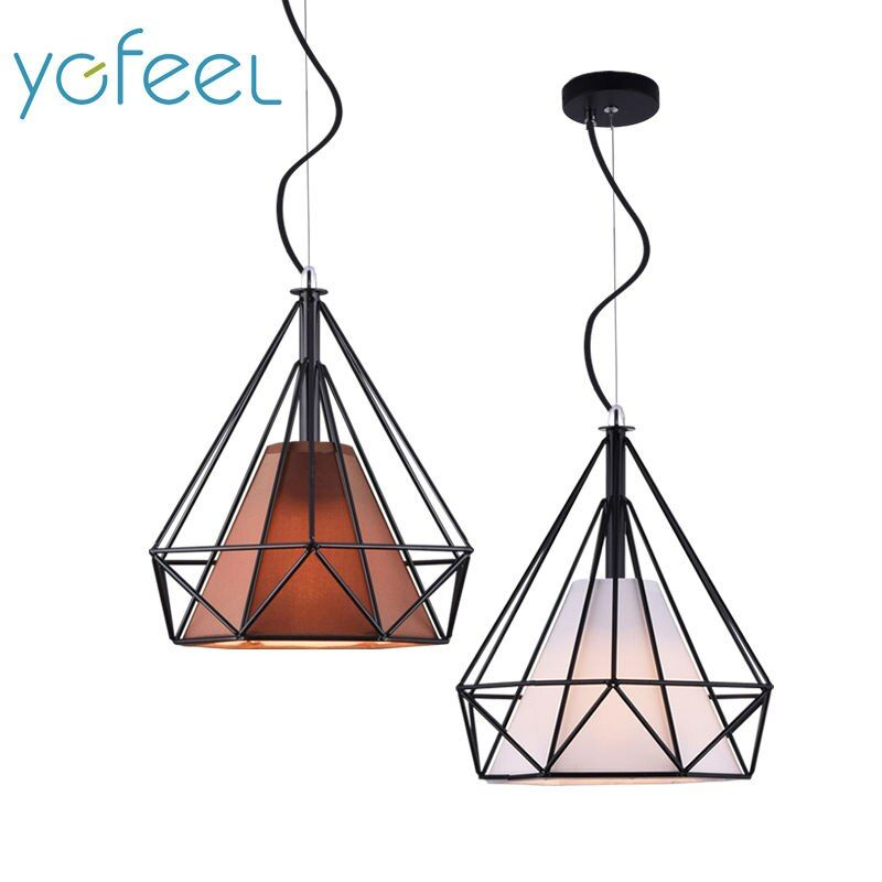[YGFEEL] Modern Dining Room Pendant Lights Nordic Style Art Pyramid Shape Restaurant Cafe Cooffee Lamps E27 Holder AC110V/220V