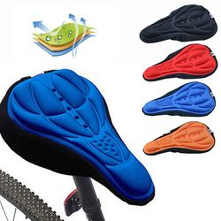 3D Soft Bike Saddle Pad Cycling Saddle Silicone MTB Mountain Bike Seat Cover Cushion Bicycle Accessories