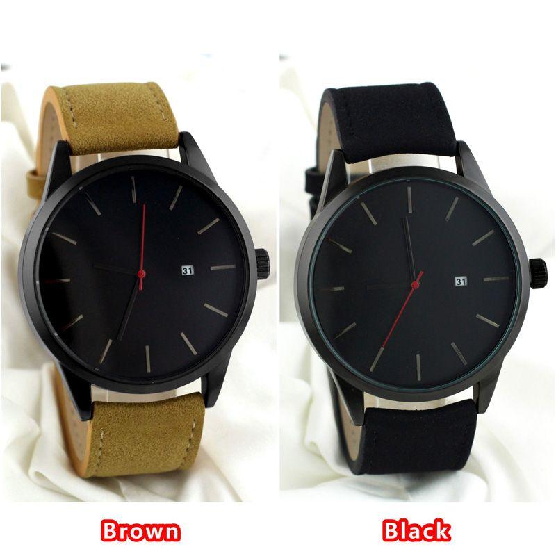 Luxus marke männer frauen uhren wasserdichte art und weise beiläufige militär quarz sport leder armbanduhr reloj negro OEM logo