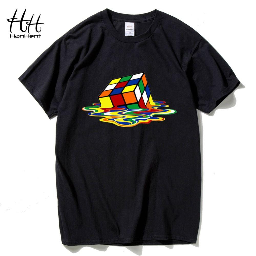 HanHent le Big Bang théorie T-shirts hommes drôle coton à manches courtes col rond T-shirts mode été Style Fitness marque T-shirts