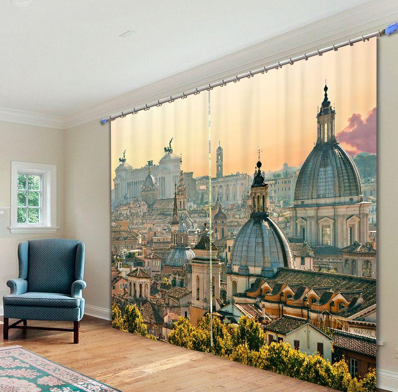 2017 Ombre Tissu Bâtiment Numérique Photo Impression Panne 3D Rideaux Pour salon Literie chambre Hôtel Rideaux Cortinas par