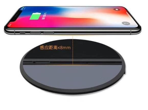 QI Ultra-mince Sans Fil Chargeur Mobile Téléphone Sans Fil De Charge 10 w-1500mA Ronde Sans Fil Rapide Chargeur